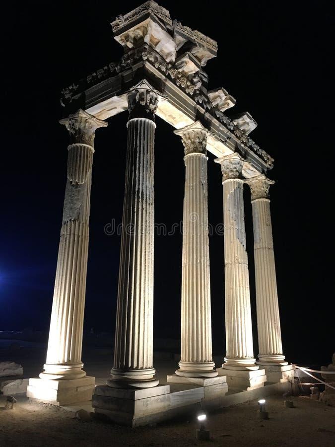 Lato Apollo Temple fotografia stock