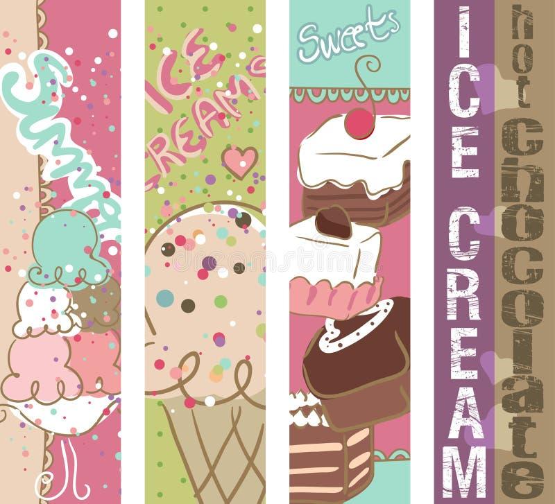 Lato cukierków sztandary ilustracji