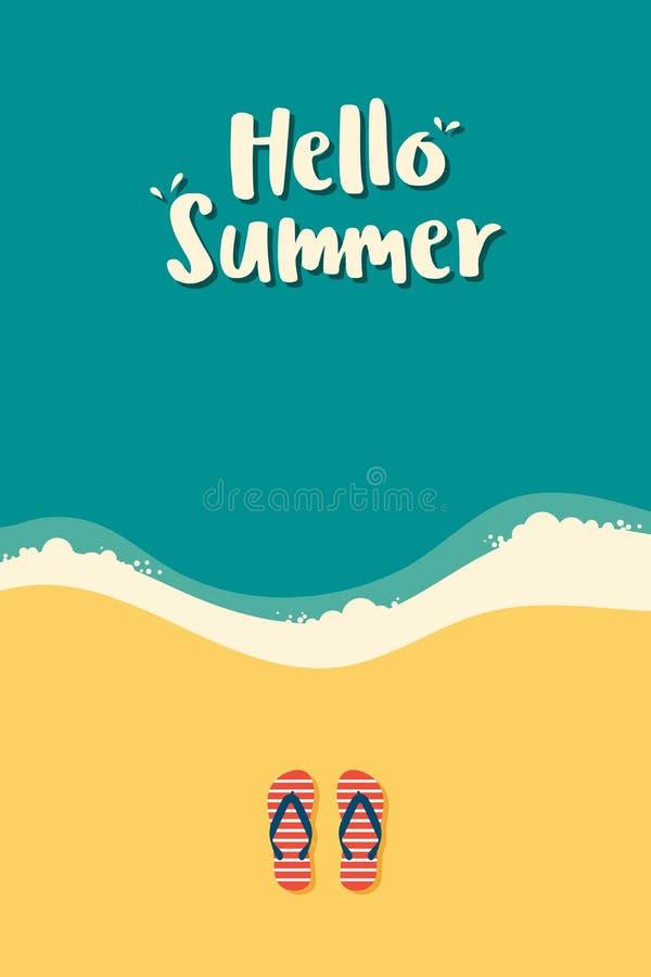 Lato czas i szcz??liwy wakacyjny plakatowy szablonu t?o ilustracji