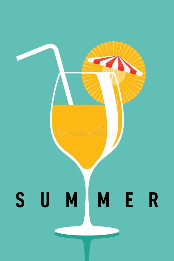 Lato czas i szcz??liwy wakacyjny plakatowy szablonu t?o ilustracja wektor