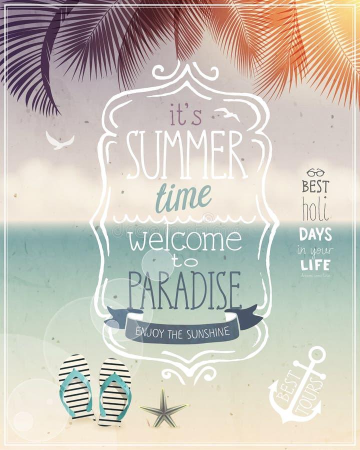 Lato czasu plakat ilustracja wektor