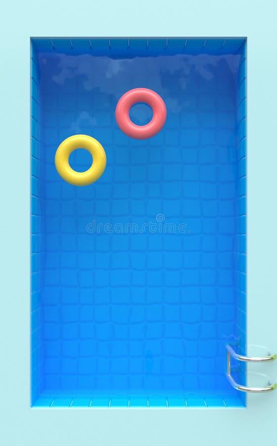 Lato czasu plakat z basenem ?wiadczenia 3 d zdjęcia royalty free