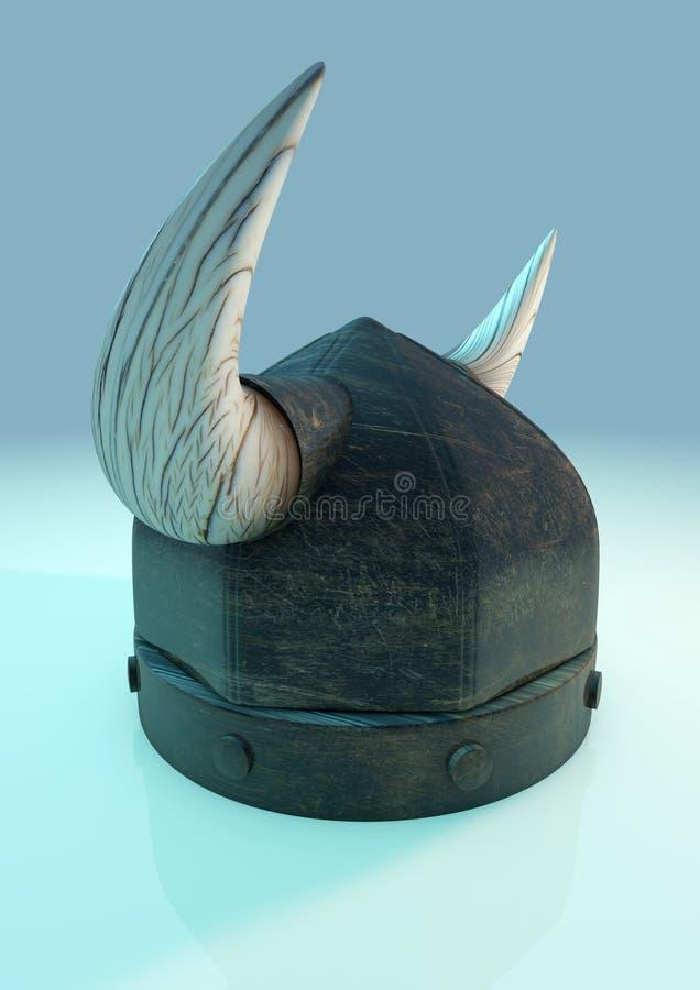 Lato del casco di Viking sopra illustrazione di stock