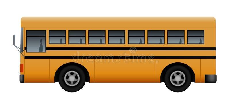Lato del modello moderno dello scuolabus, stile realistico royalty illustrazione gratis
