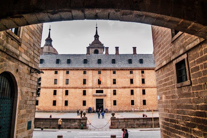 Lato del monastero di EL Escorial fotografia stock libera da diritti
