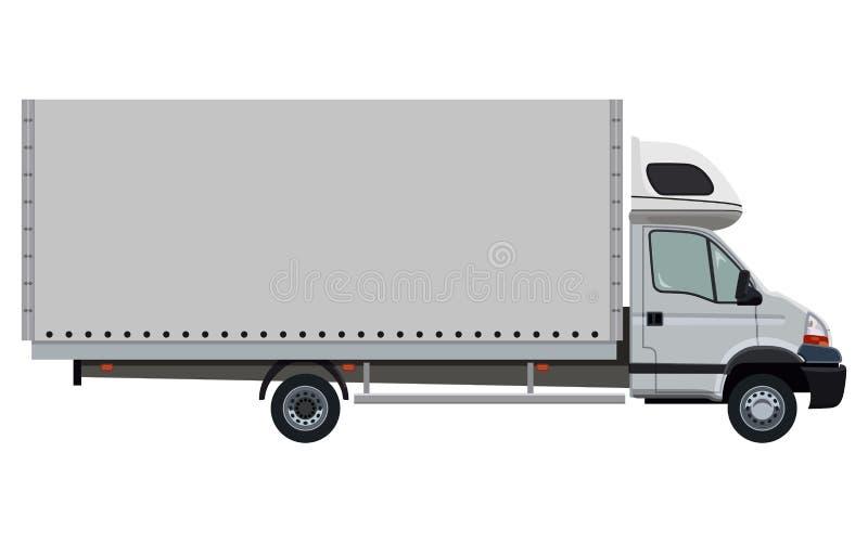 Lato del veicolo industriale leggero illustrazione vettoriale