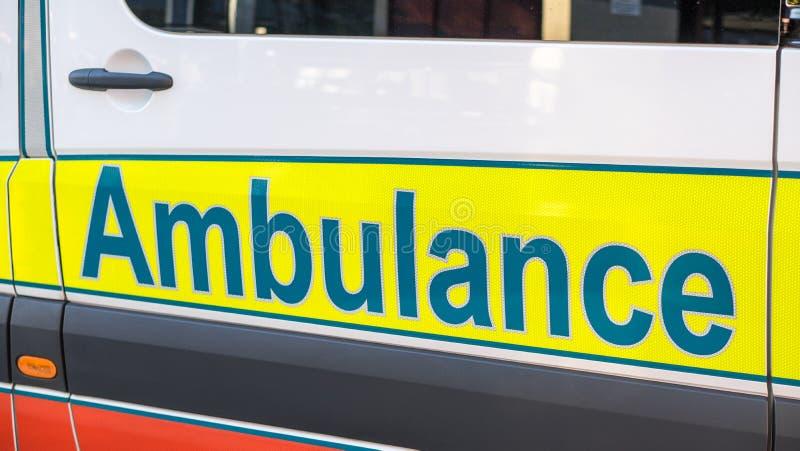 Lato dell'ambulanza immagine stock