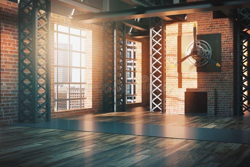Lato dell 39 interno di stile del capannone illustrazione di for Capannone in stile