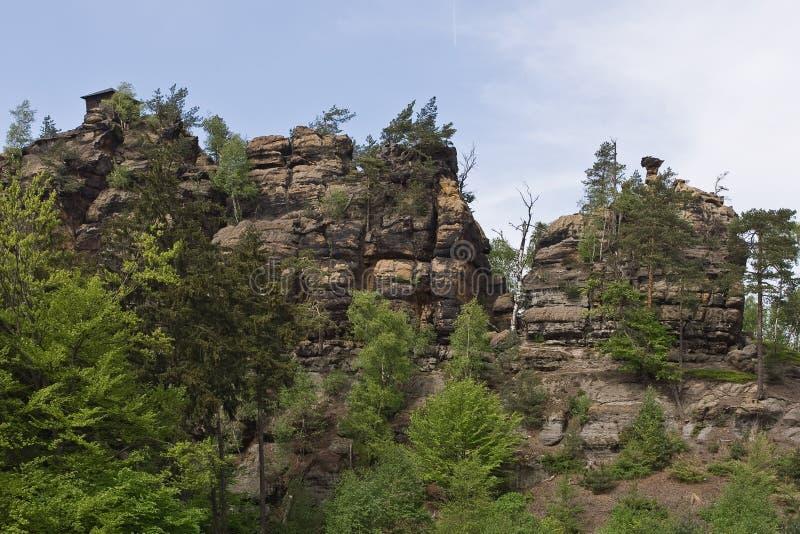 Lato della parete della montagna della roccia fotografia stock