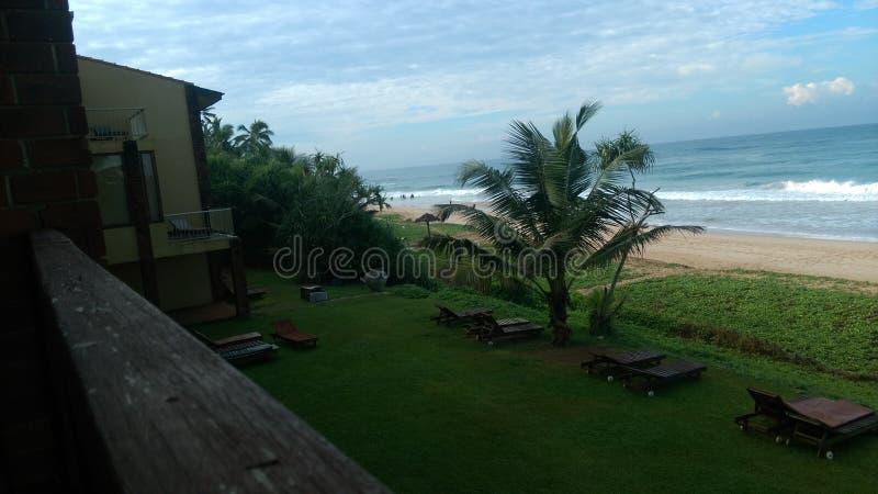 Lato della spiaggia a Galle Sri Lanka immagini stock