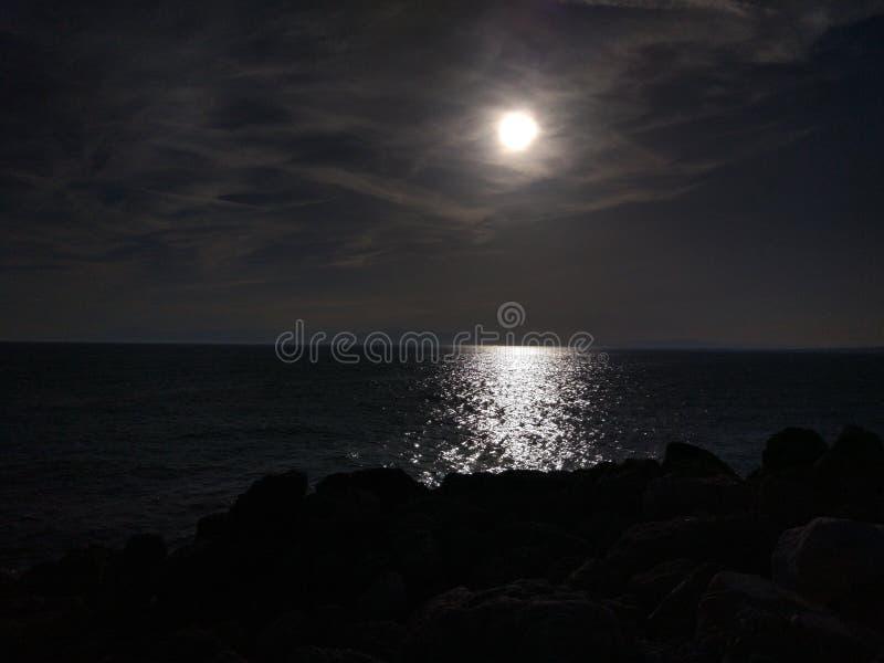 Lato di Adalia Manavgat nella notte fotografia stock libera da diritti