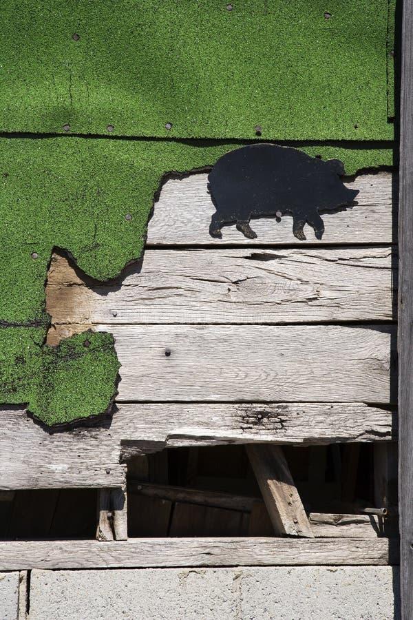 Lato di costruzione di legno. fotografia stock