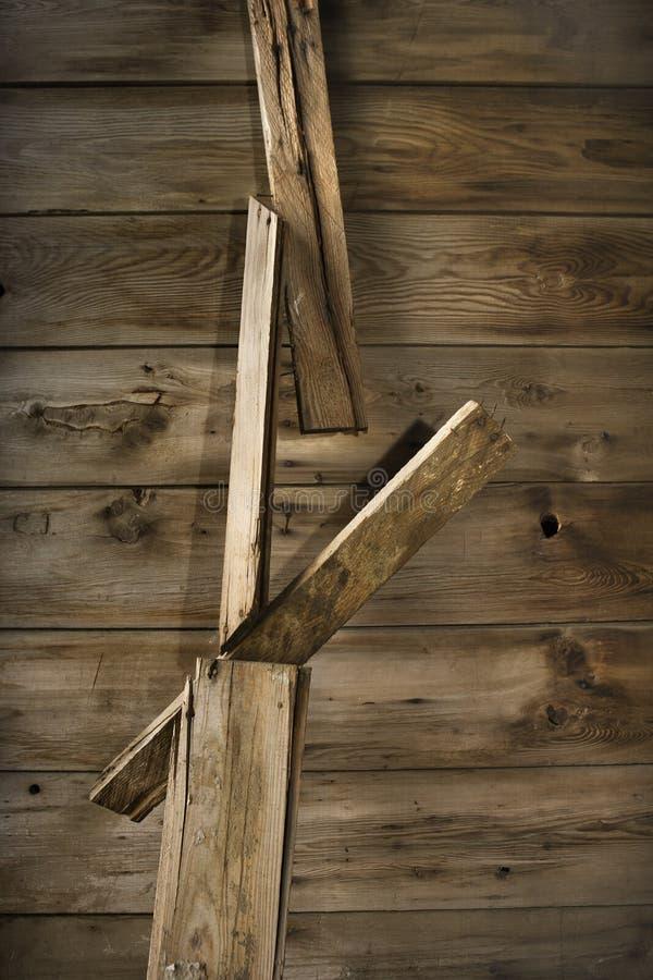 Lato di costruzione di legno rustica. fotografia stock