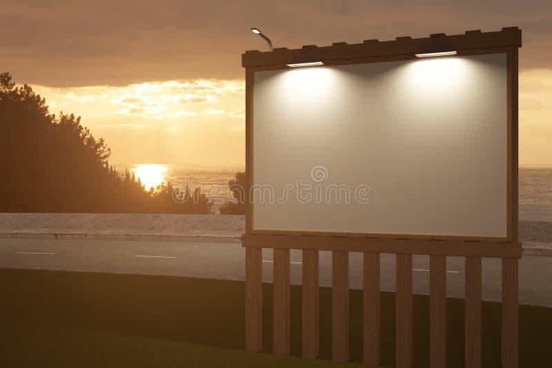 Lato di legno vuoto del tabellone per le affissioni royalty illustrazione gratis