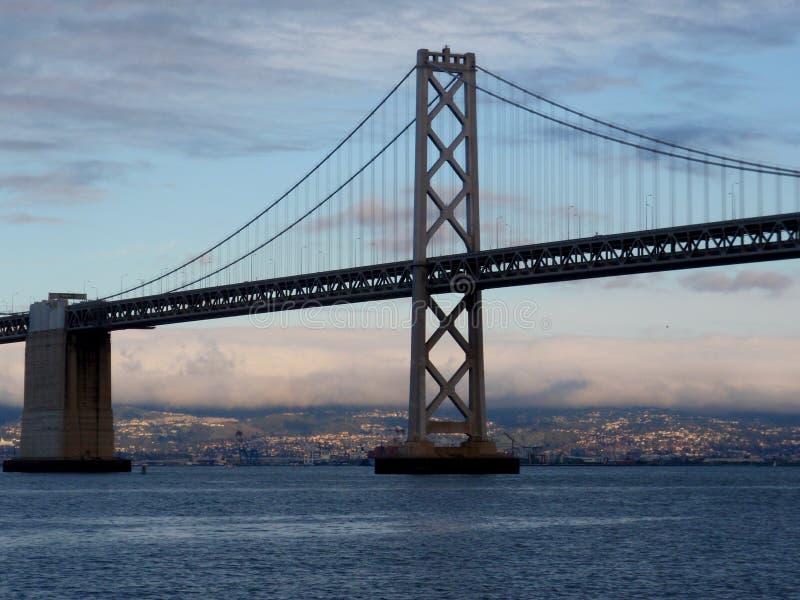 Lato di San Francisco del ponte della baia fotografia stock libera da diritti