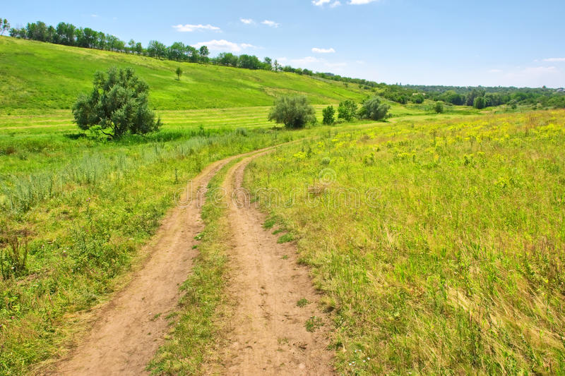 Lato droga w wsi fotografia stock