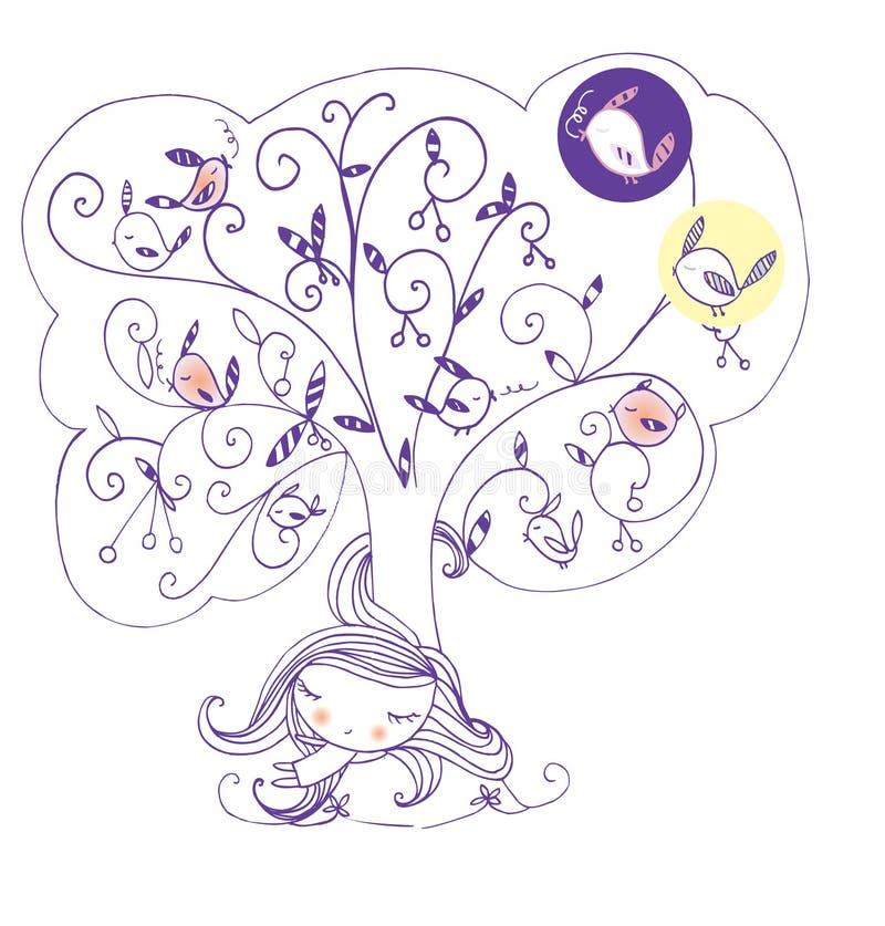 Download Lato drzemka ilustracji. Obraz złożonej z pokojowy, wyznaczający - 33438480