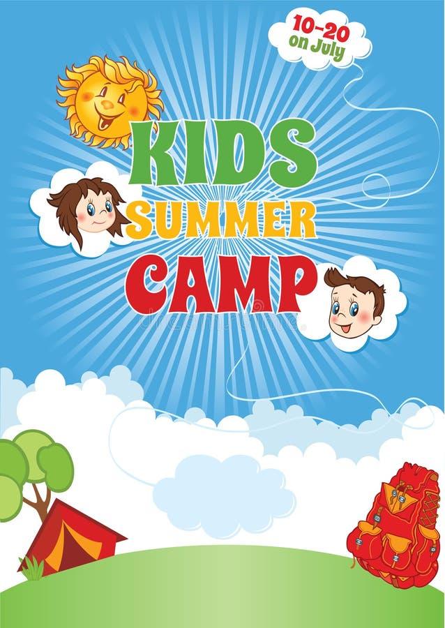 Lato dzieciaka obozu szablon royalty ilustracja
