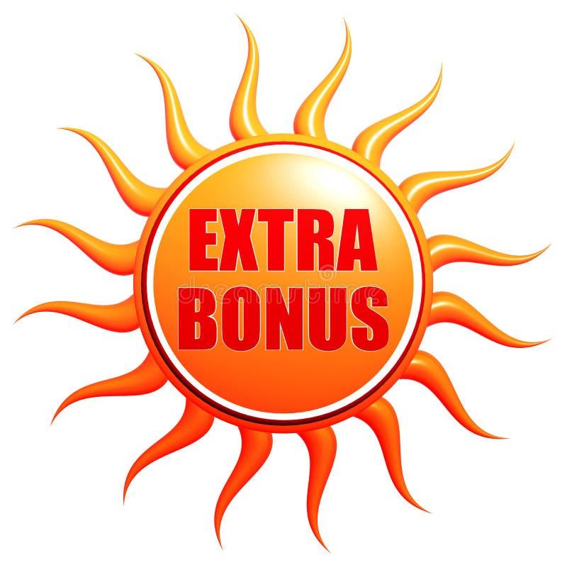 Lato ekstra premia w 3d słońca etykietce royalty ilustracja