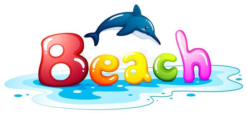 Lato eskapada przy plażą royalty ilustracja