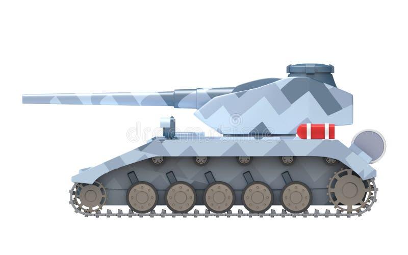 Lato fantastico pesante del carro armato illustrazione di stock