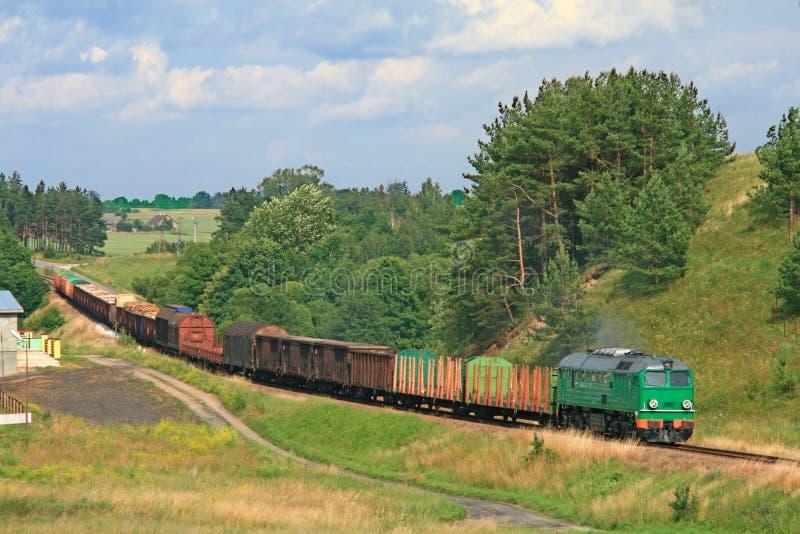 lato frachtowy krajobrazowy pociąg obrazy stock