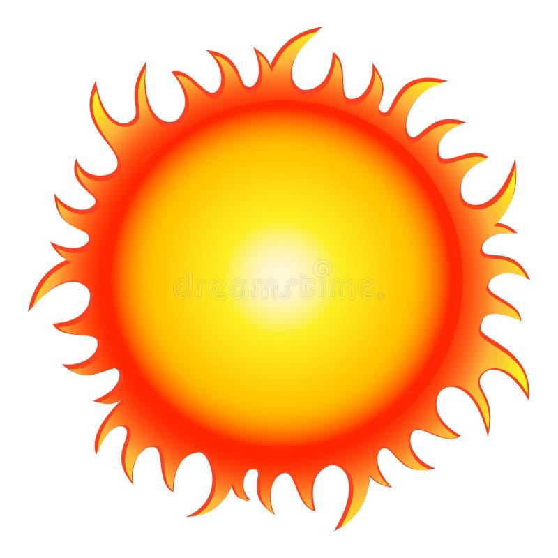 lato gorący słońce ilustracji