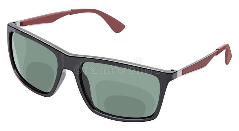 Lato grigio degli occhiali da sole royalty illustrazione gratis