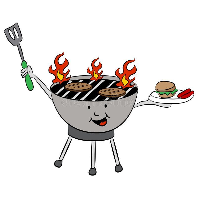 Lato grilla grill royalty ilustracja