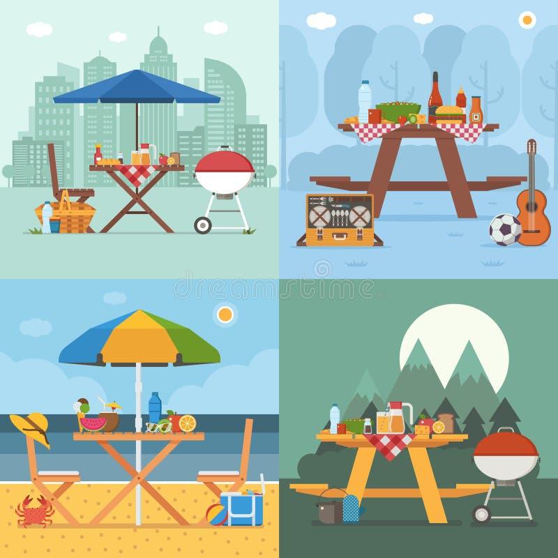 Lato grilla i pinkinu tła ilustracji
