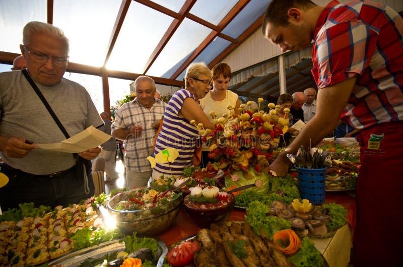 Lato hotelowy karmowy festiwal zdjęcia royalty free