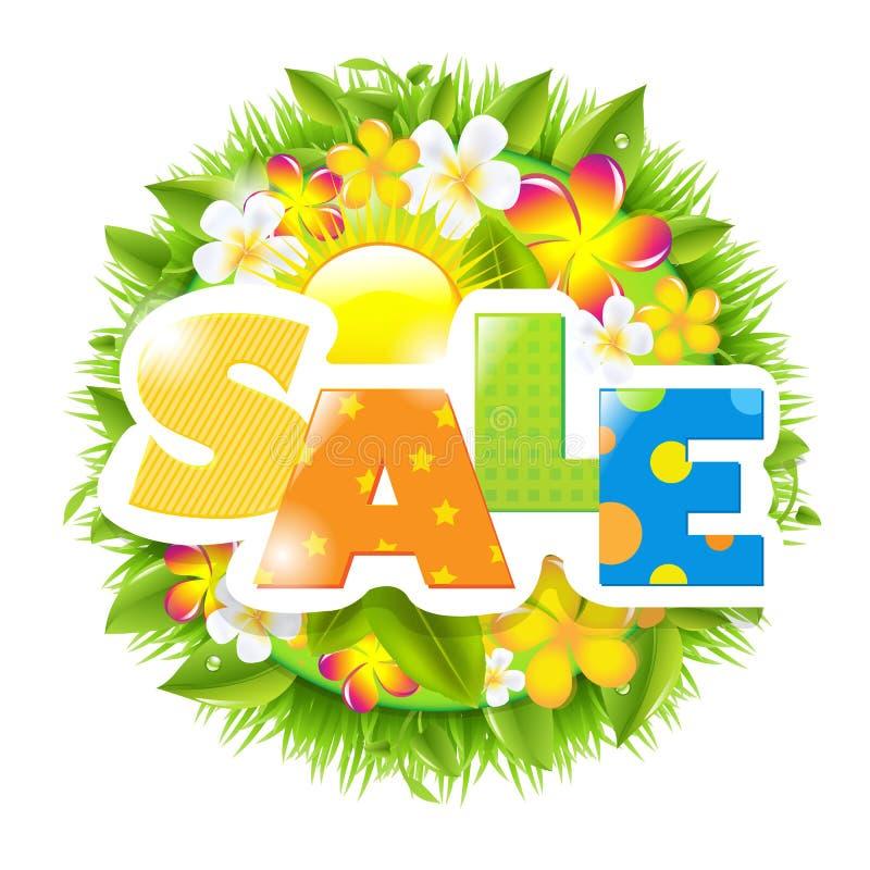 Lato I wiosny sprzedaży szablon royalty ilustracja