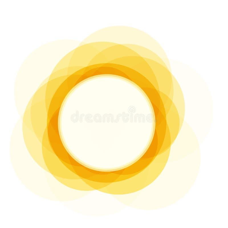 Lato ikona Pogodny jaskrawy okręgu kształt, słońce połysk jaskrawy, płaski prosty logo szablon Nowożytny turystyka emblemata pomy ilustracja wektor