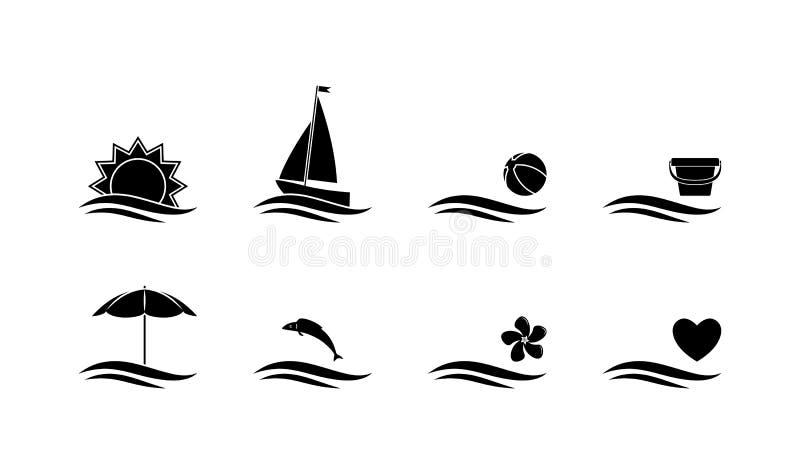 Lato ikony ilustracja wektor