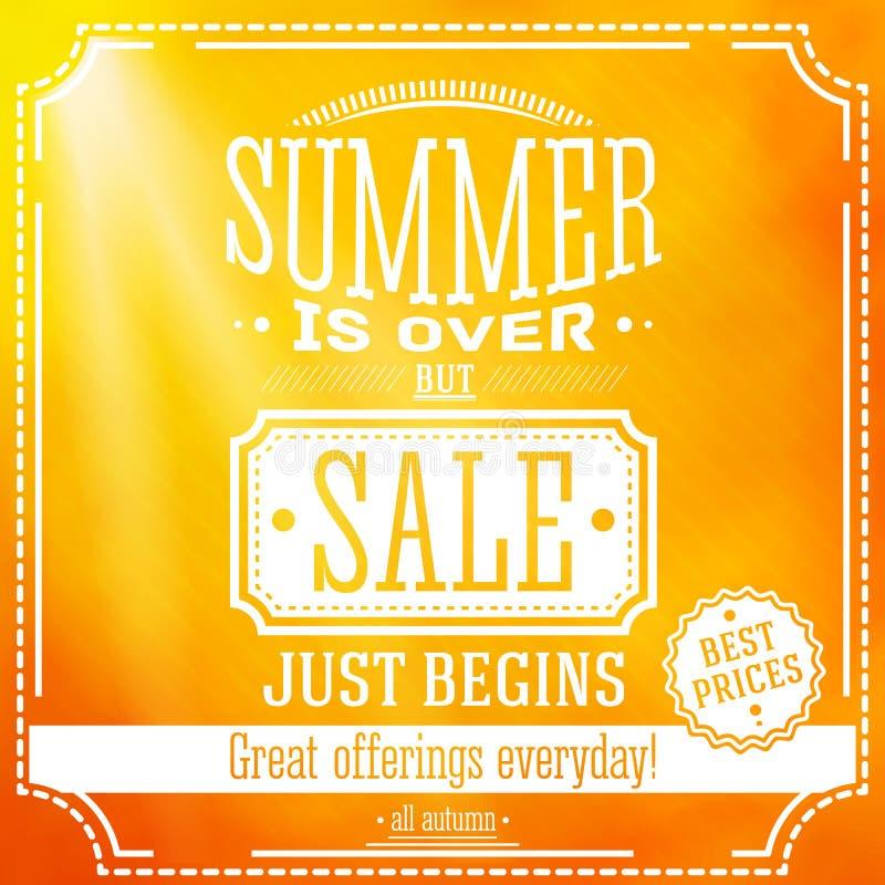 Lato jest nad ale sprzedaż właśnie zaczyna sztandar dla ilustracja wektor