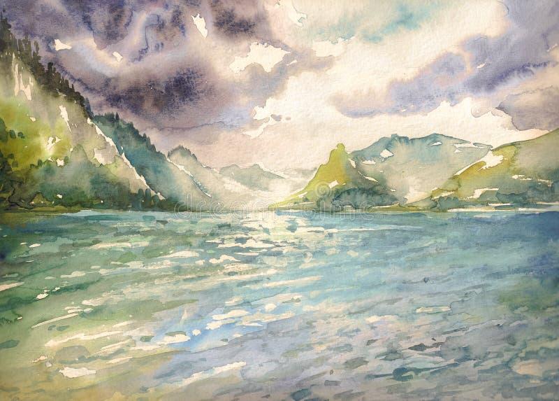 Lato jezioro royalty ilustracja