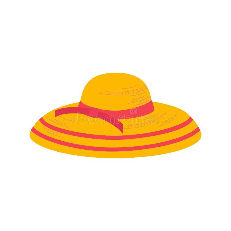 Lato kapeluszu ikona ilustracja wektor