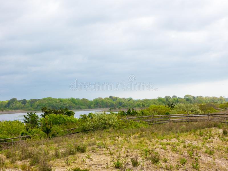 Lato krajobraz jezioro w Virginia plaży, usa fotografia stock