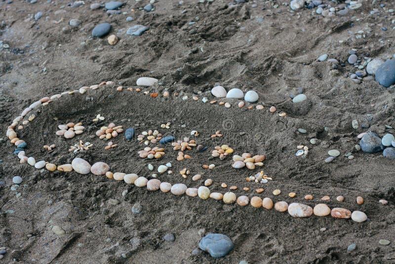 LATO krajobraz Rysunek na piasku tworzącym wodą i wiatrem obrazy royalty free