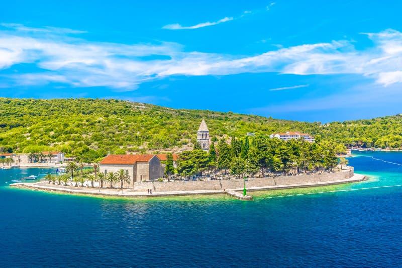 Lato krajobraz w Chorwacja, wyspa Vis fotografia royalty free