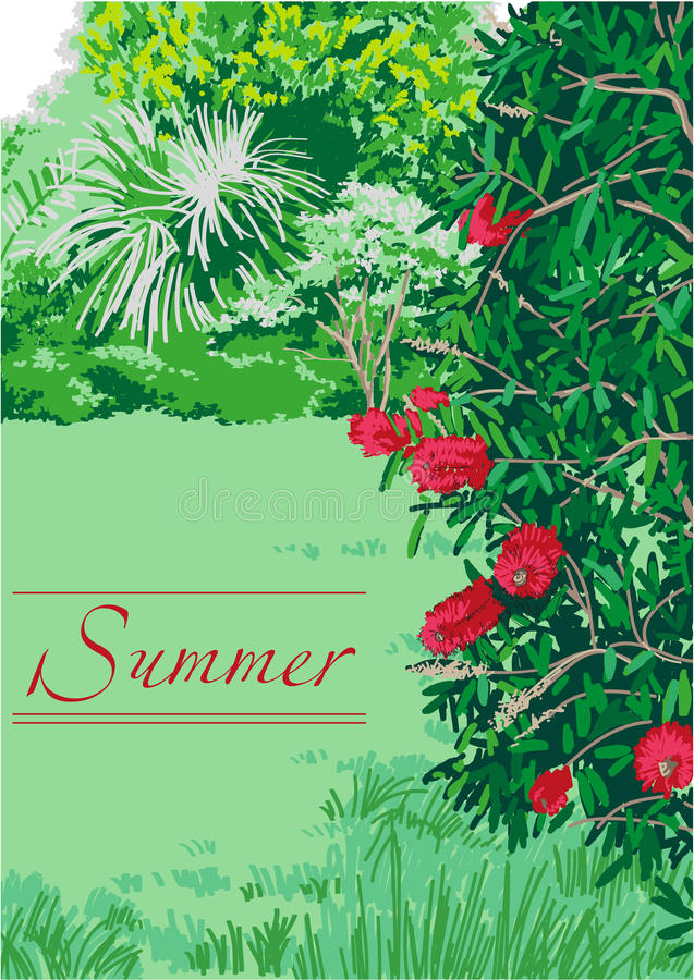 Lato krajobrazowa natura ilustracji
