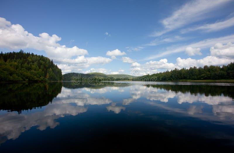lato krajobrazowy rzeczny vishera zdjęcia stock