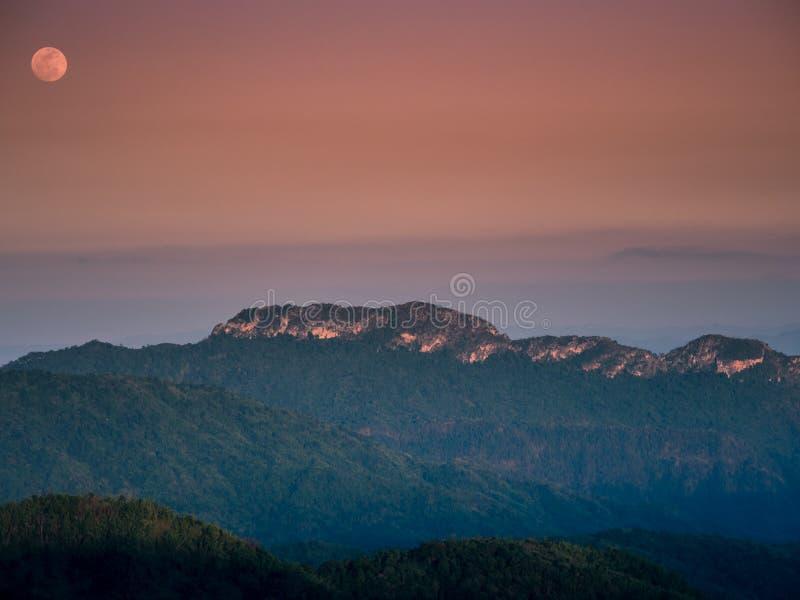 Lato krajobrazu i podróży pojęcie od światła słonecznego na gór wi obraz royalty free