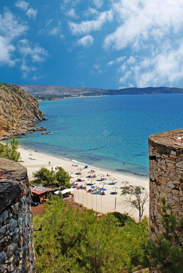 Lato kurort Halkidiki półwysep, Grecja obrazy royalty free