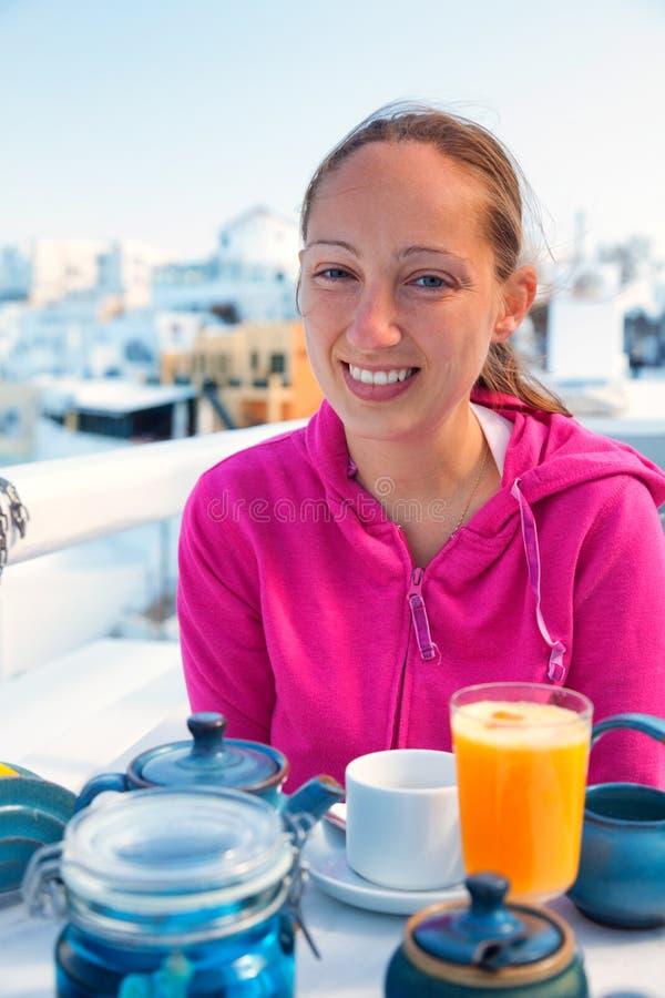Lato kurort w Fira, Santorini obrazy royalty free