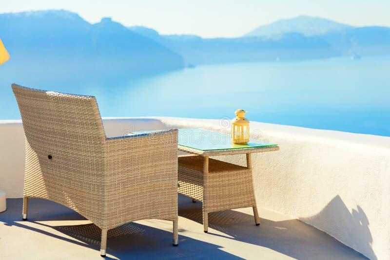 Lato kurort w Oia, Santorini obraz royalty free