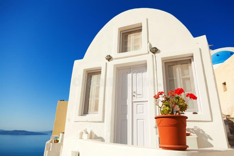 Lato kurort w Oia, Santorini zdjęcie royalty free