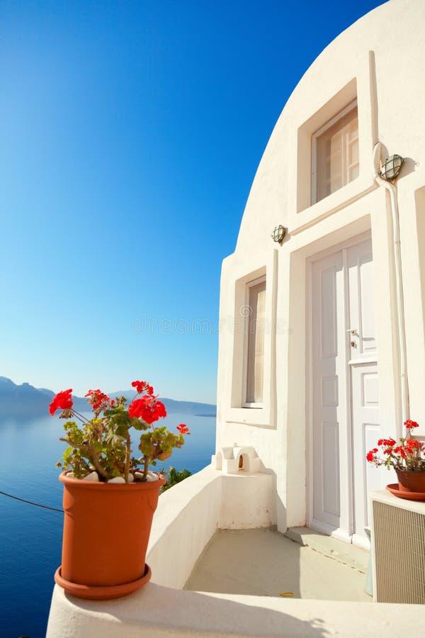 Lato kurort w Oia, Santorini fotografia royalty free