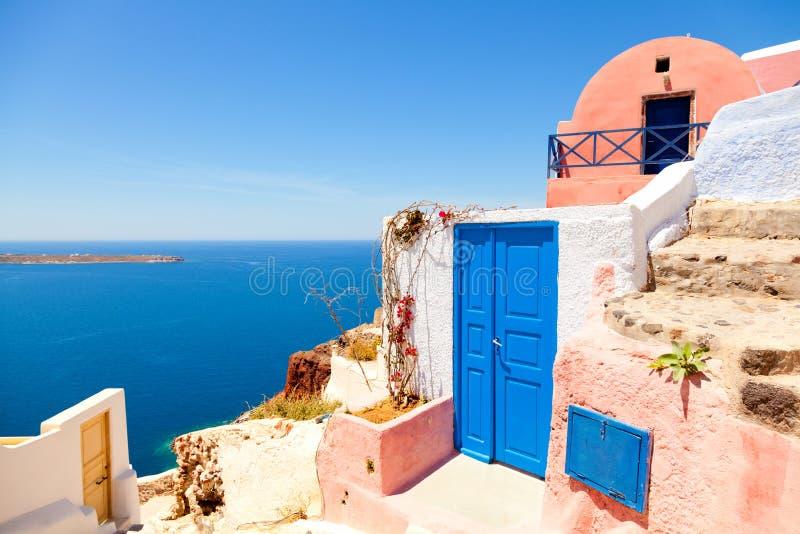 Lato kurort w Oia, Santorini zdjęcie stock