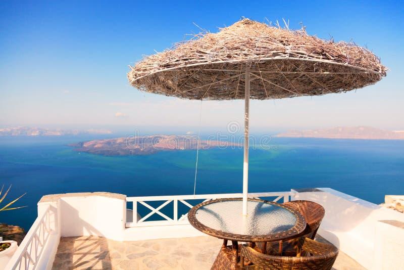Lato kurort w Santorini obraz stock